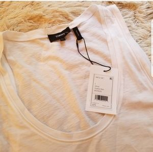 Theory white slub tank NWT large